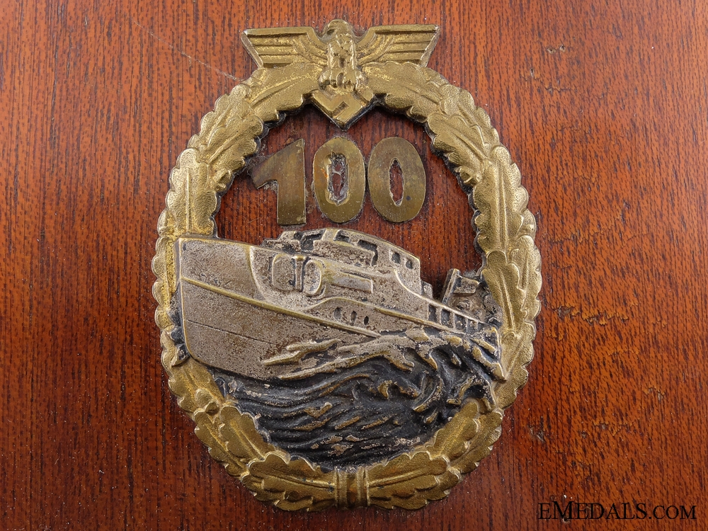 1st Type E-Boat Badge to S-57 Commander Buschmann