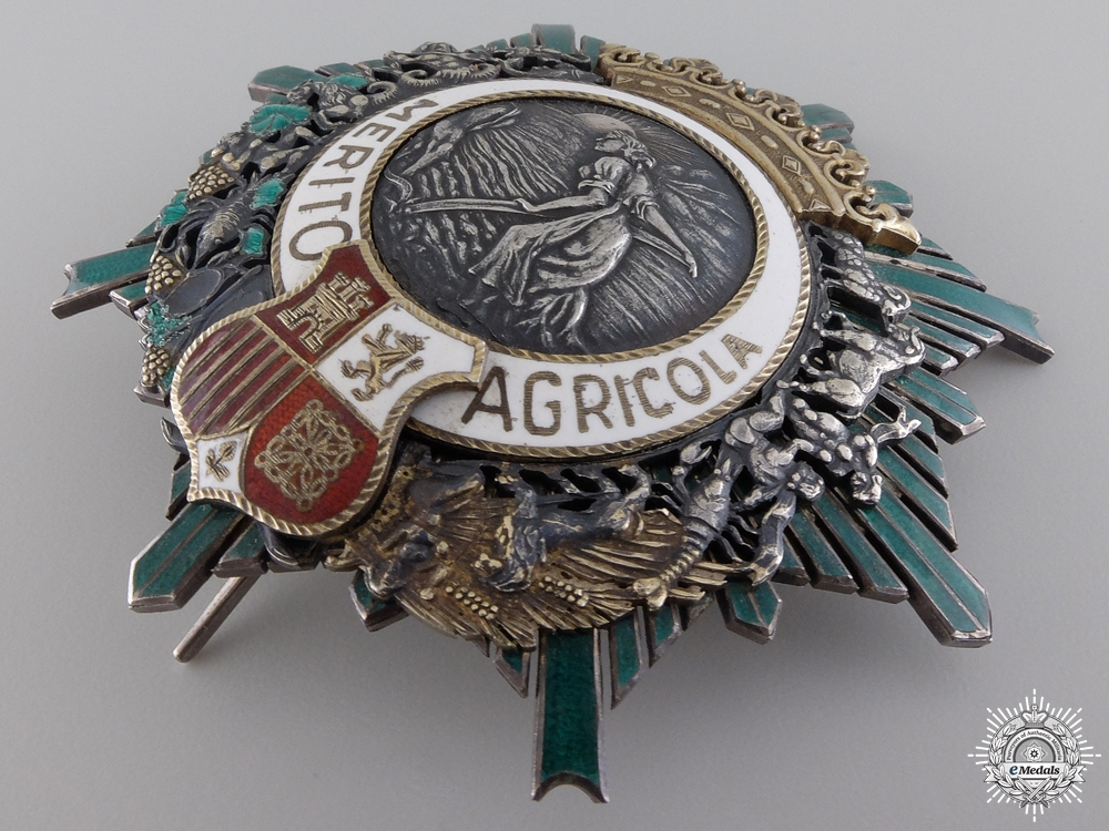 A Spanish Order of Agricultural Merit; Breast Star