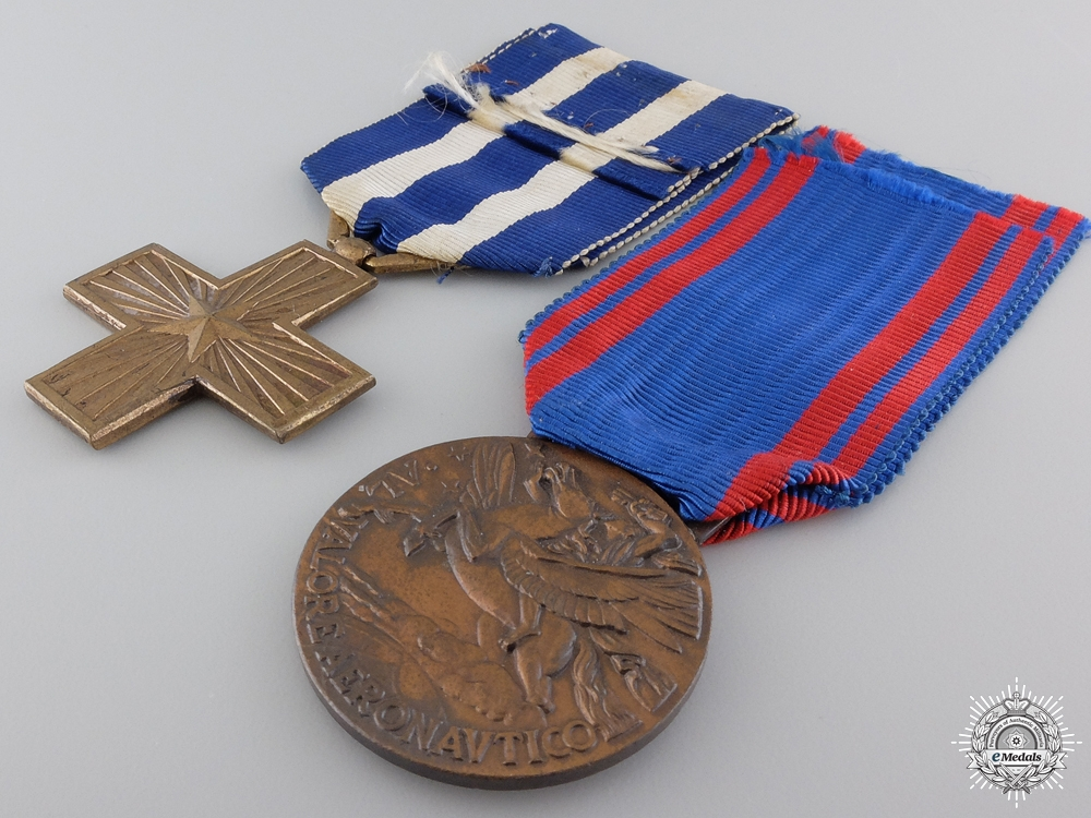 Two Italian Merit & Campaign Medals