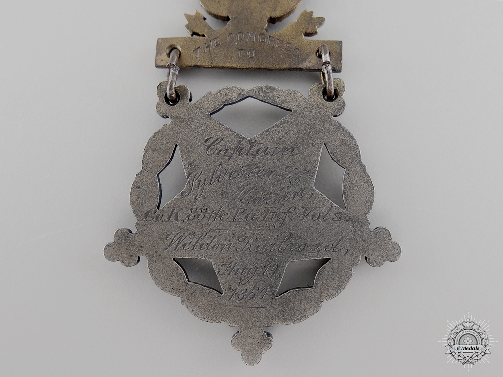 An US Civil War Medal of Honor for Action at Weldon Railroad  Consignment 21