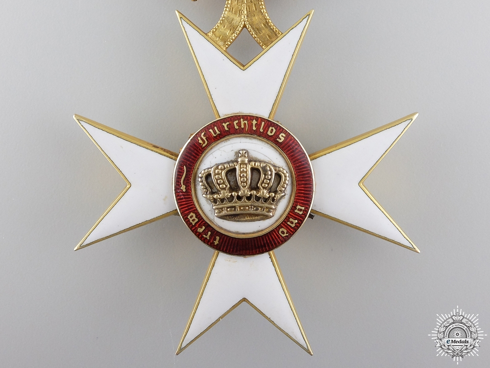 An Order of the Crown of Württemberg in Gold, by Eduard Foehr