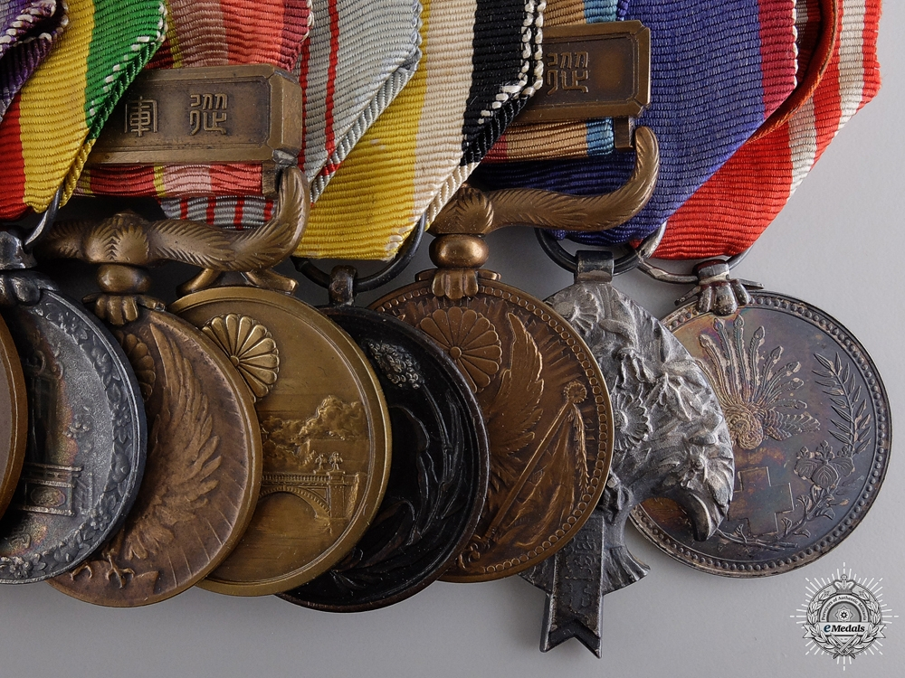 A Japanese Medal Bar of Ten Awards