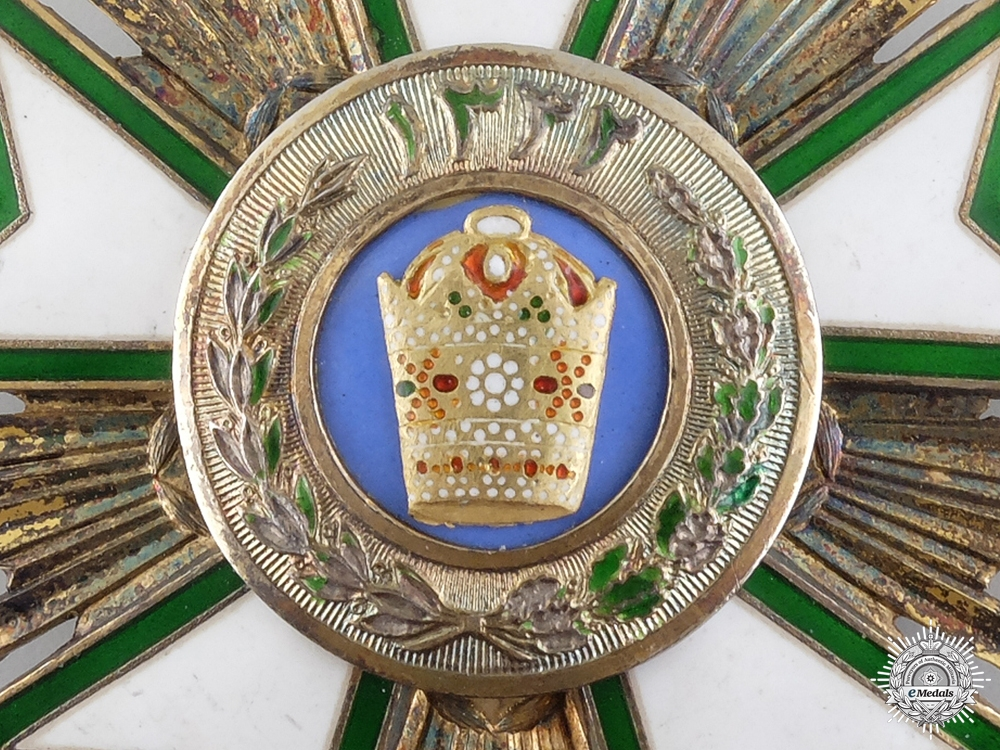 A Iranian Order of the Crown; Commander's Neck Badge