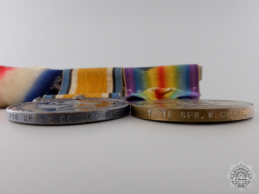 A First War Mons Star Group to the Royal Engineers