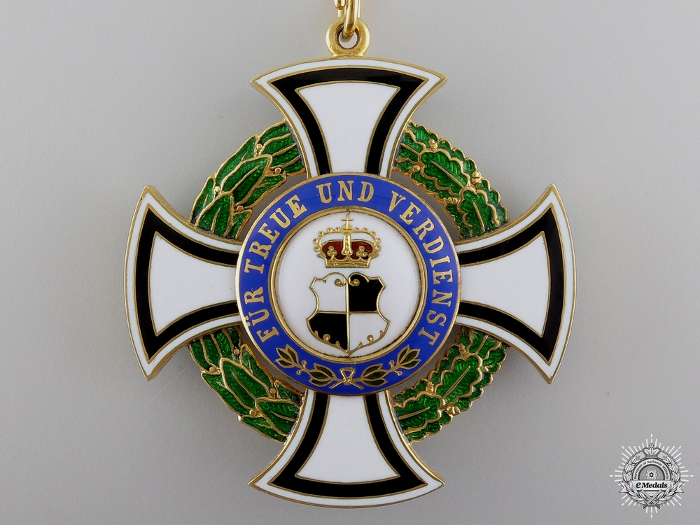 A 1895-1900 House Order of Hohenzollern; Commanders Honour Cross