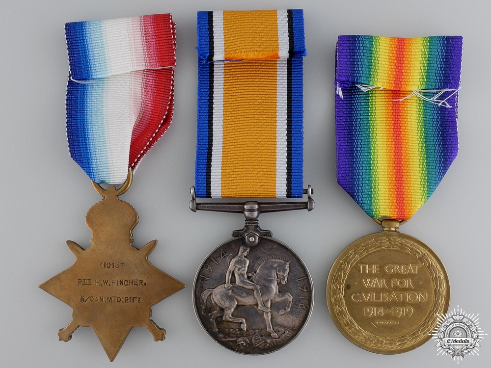 A First War Canadian Group to the 5th Mounted Rifles