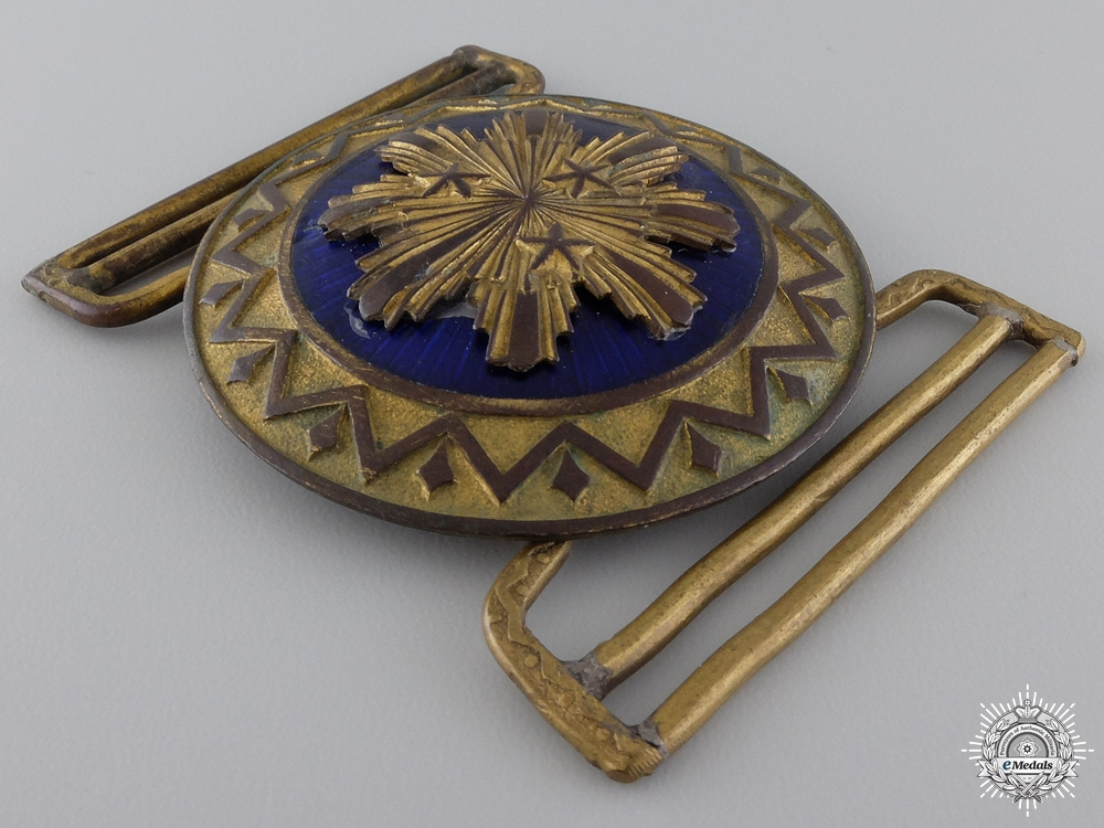 A 1930's Latvian Officer's Dress Buckle