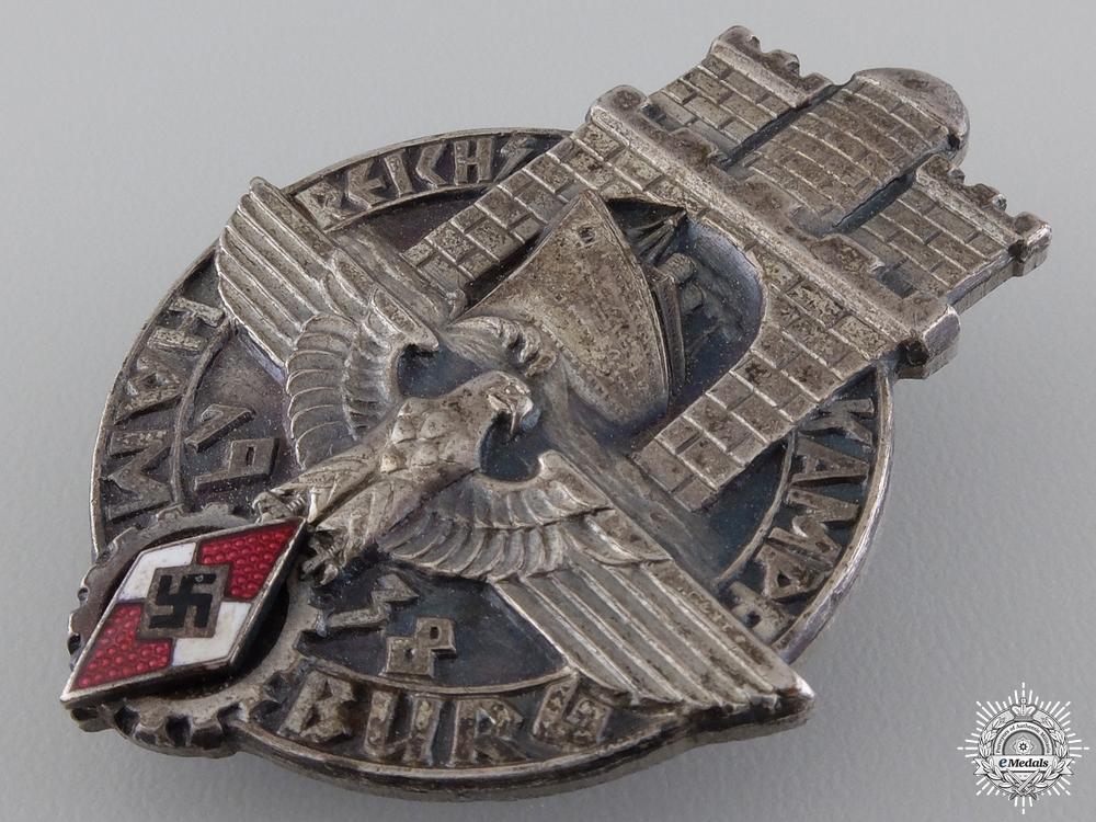 A 1938 HJ Reichskampf Hamburg Badge
