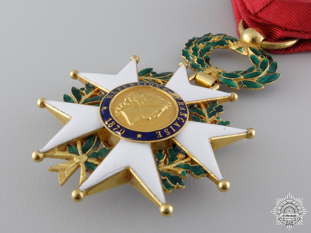 An 1870  French Legion D'Honneur; Officers Cross in Gold