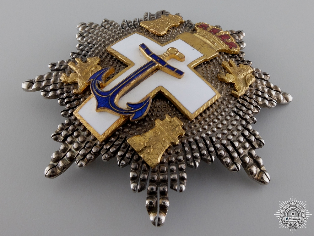A Spanish Order of Naval Merit; Breast Star