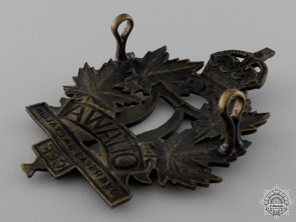A First War Ottawa BattalionCap Badge
