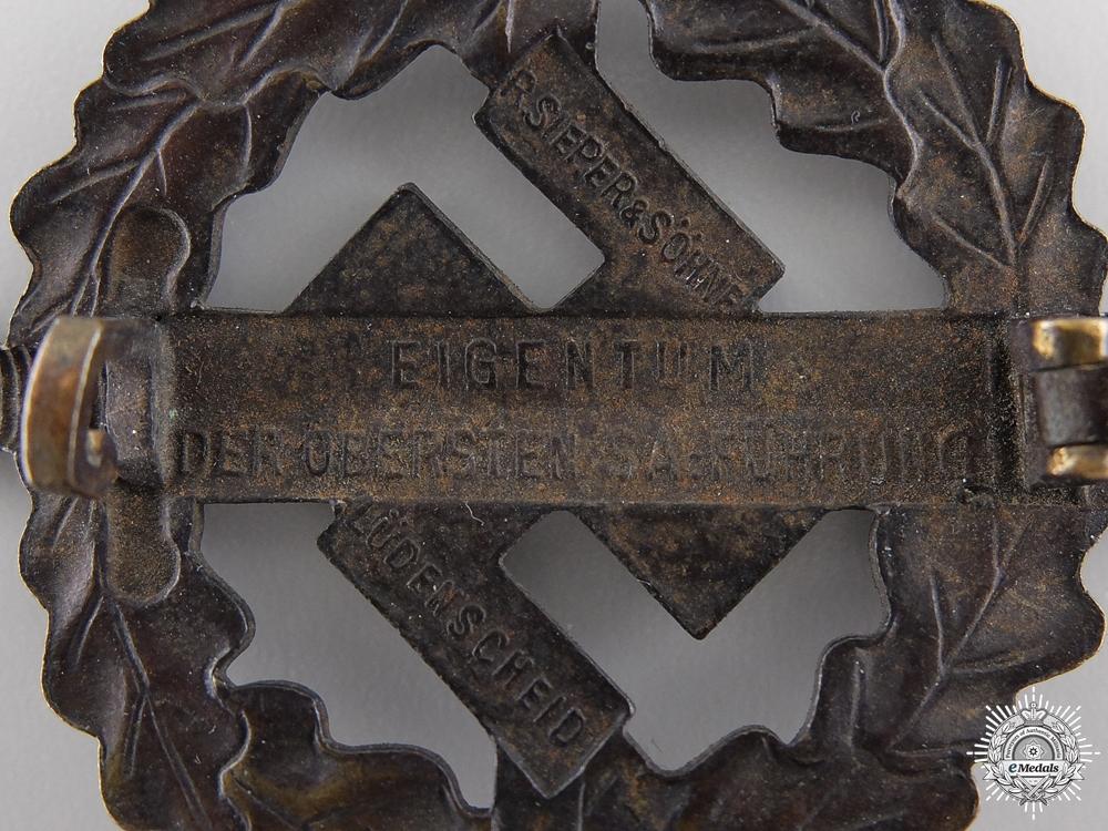A Bronze Grade SA Sports Badge by Sieper & sohn