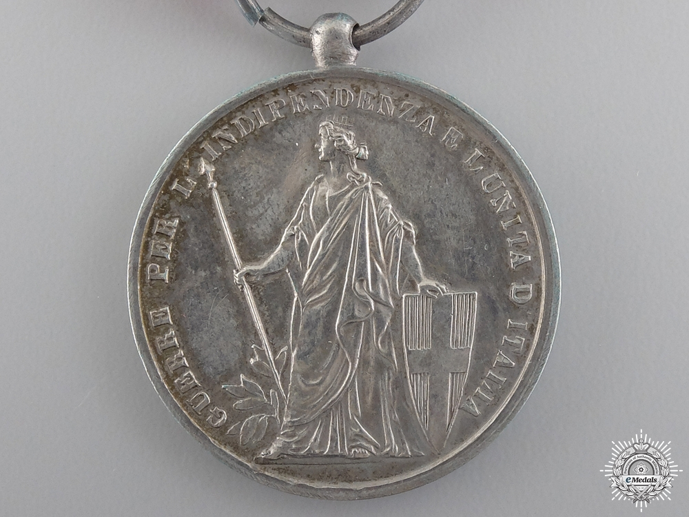 An Italian Independence Medal with Two Bars