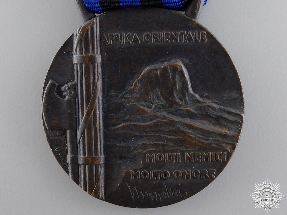 An Italian Campaign Medal for East Africa