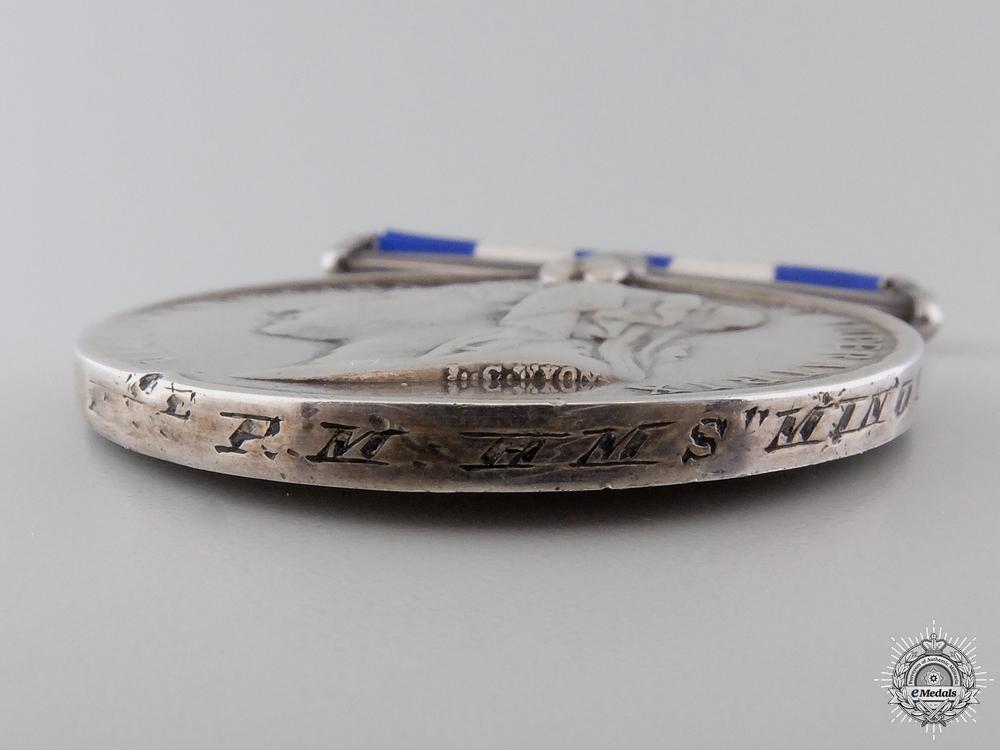 An Egypt Medal 1882-89 to H.M.S. Minotaur