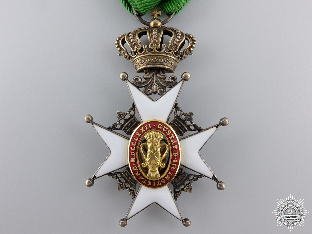 A Swedish Order of Vasa; Knight's Badge