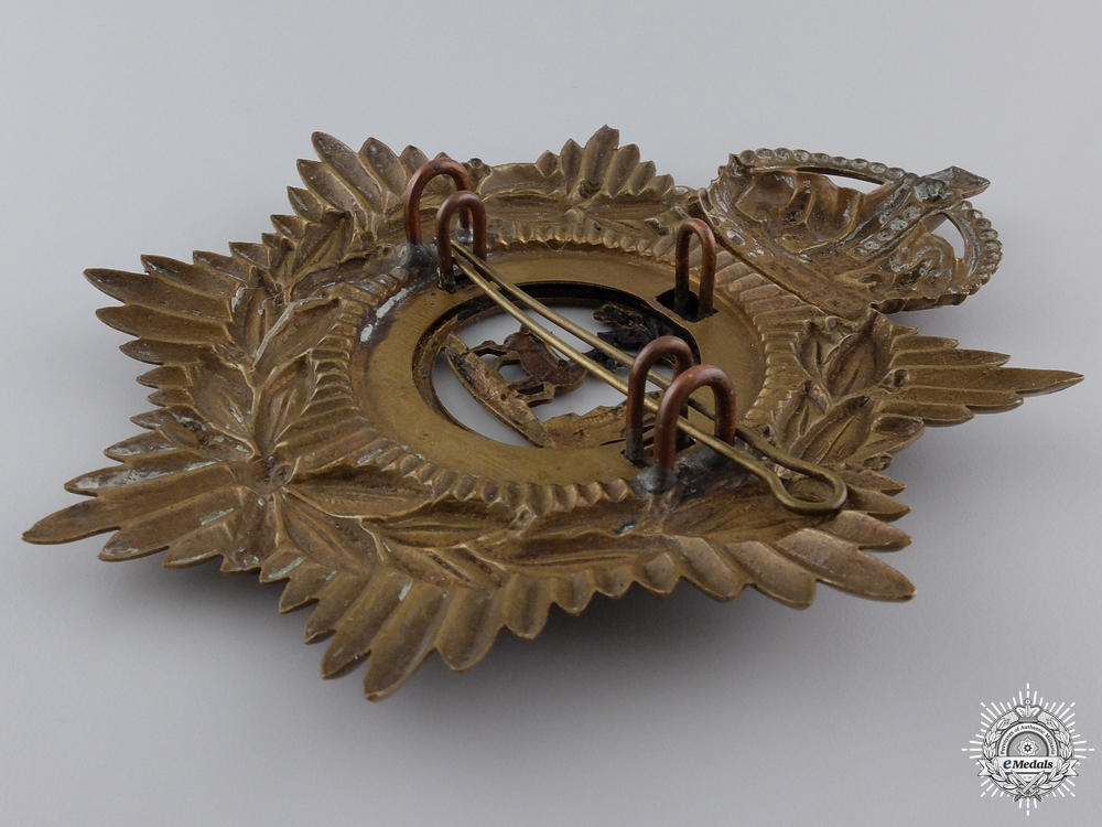 A King's Crowned Royal Berkshire Regiment Helmet Plate