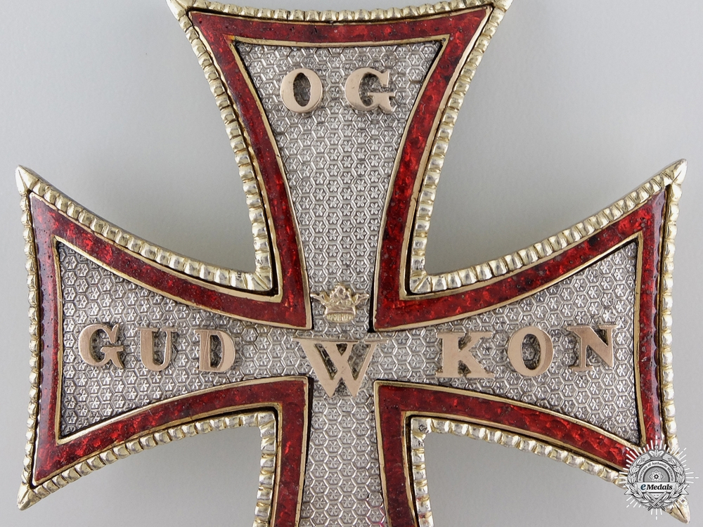 An Early Danish Order of Dannebrog; 1st Class Star c.1835