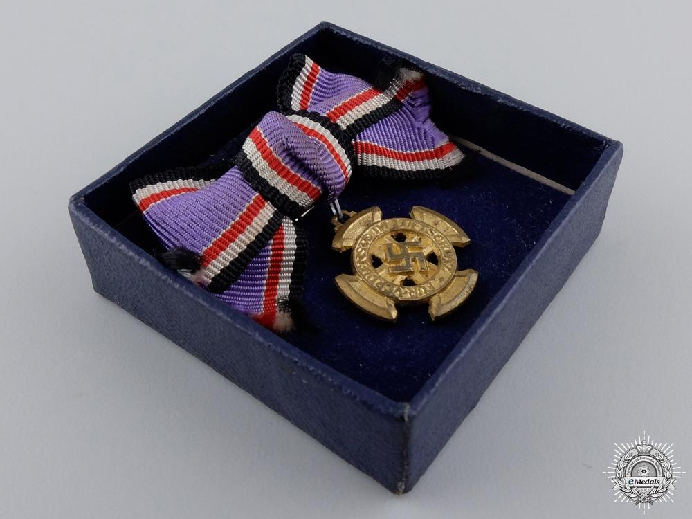 A Miniature Luftwaffe Air Defense Decoration; 1st Class