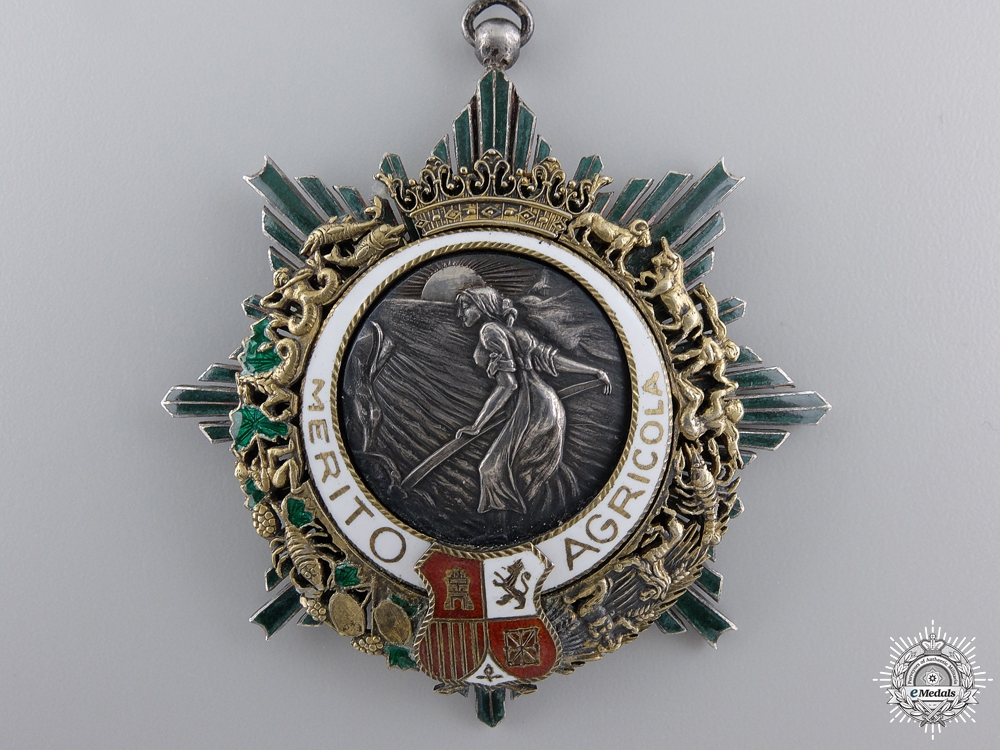 Spain, Franco Period. An Order of Agricultural Merit, Commander, c.1935