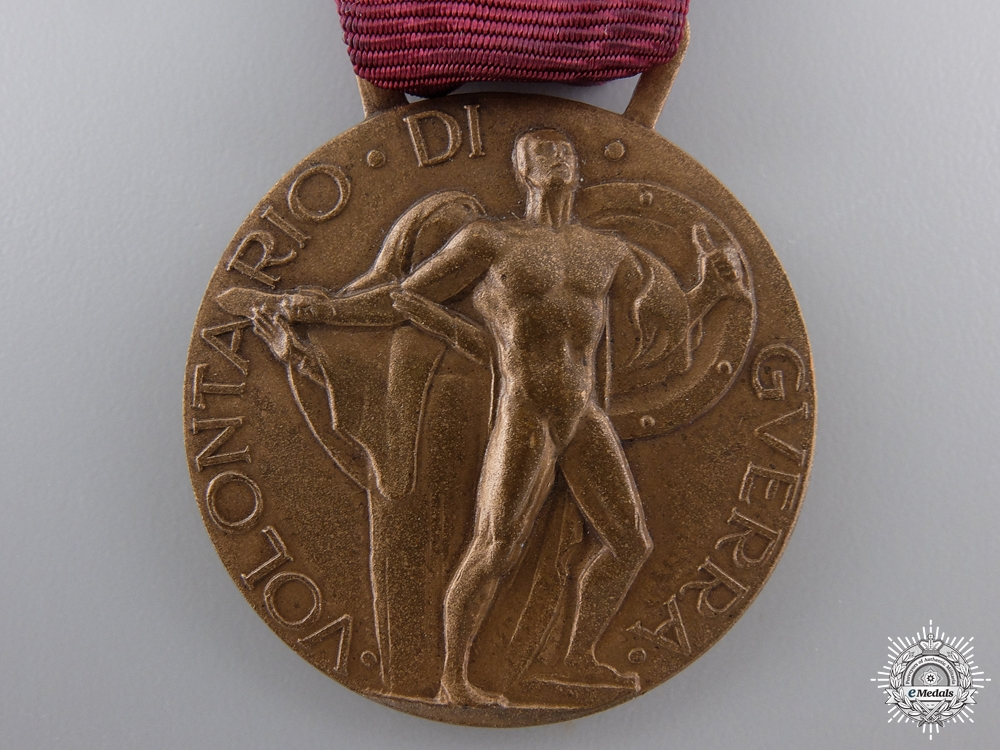An Italian Volunteers' Medal for the Wounded