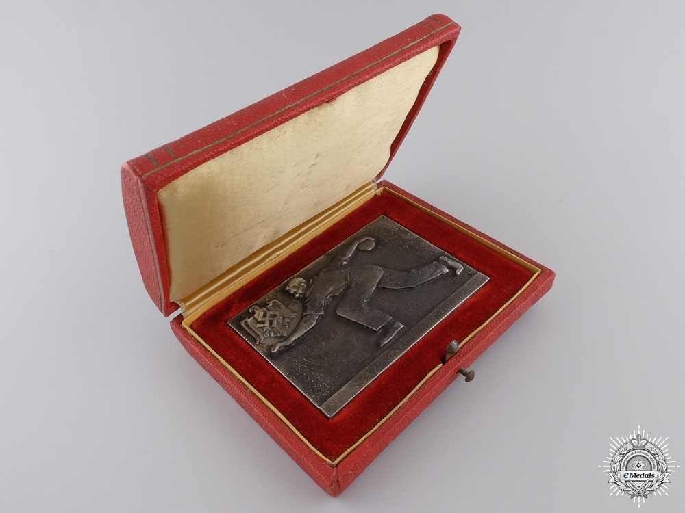 A 1942 German-Croatian Bowling Match Medal
