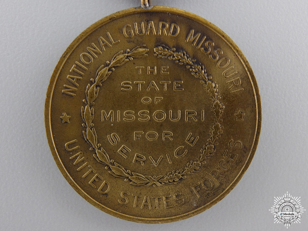 An American  First War Missouri National Guard Service Medal 1917-1919