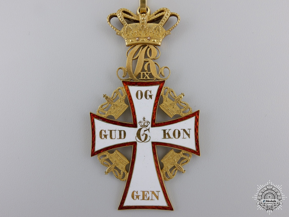 A Danish Order of Dannebrog; 2nd Class Commander in Gold