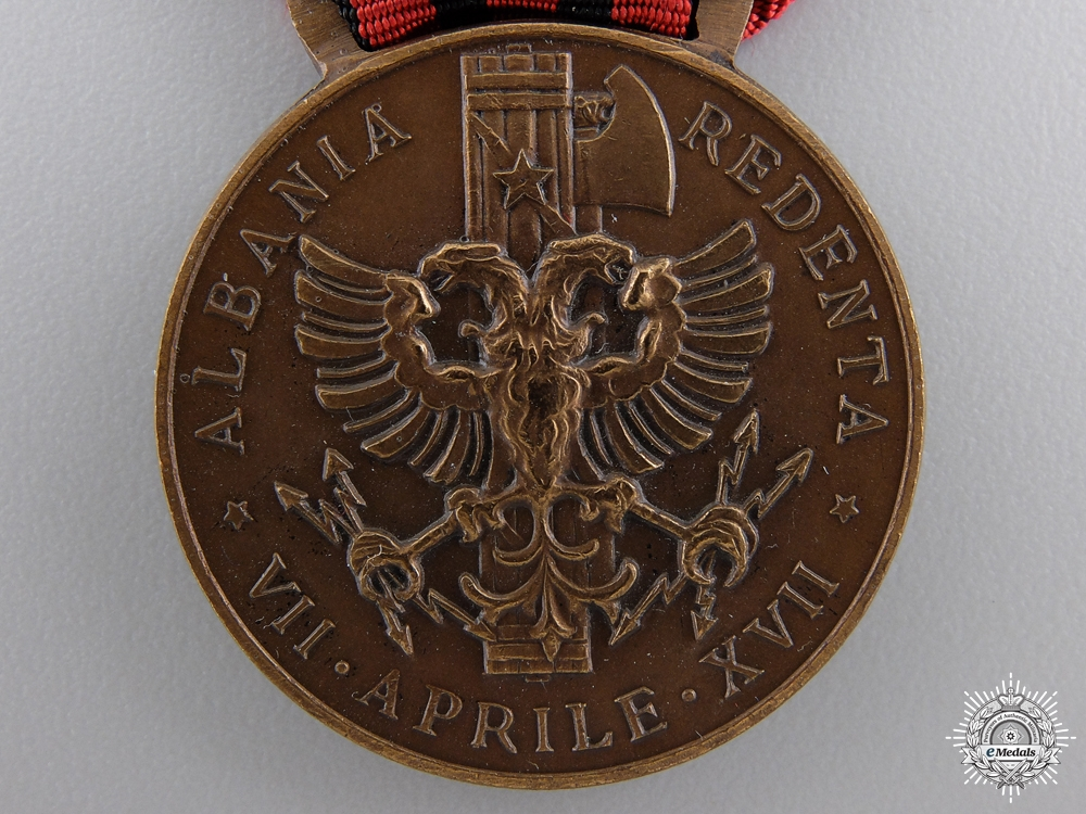 An Italian Medal for Expedition to Albania