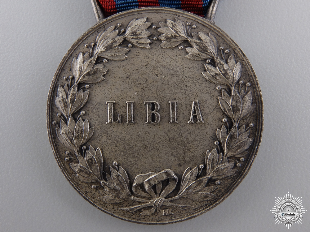 A 1911 Italian Campaign Medal for Service in Libya