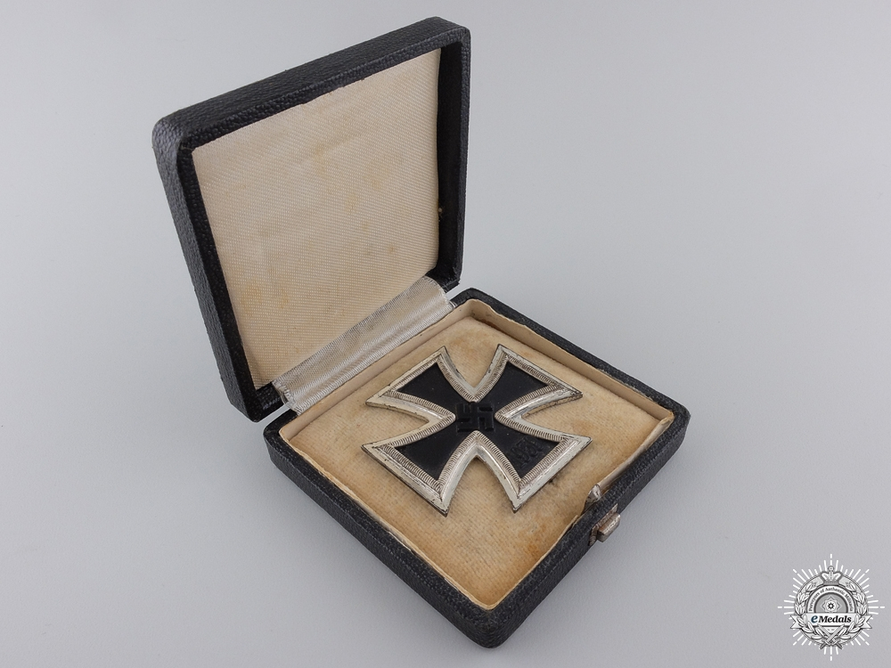 A 1939 First Class Iron Cross with Case by B. H. Mayer