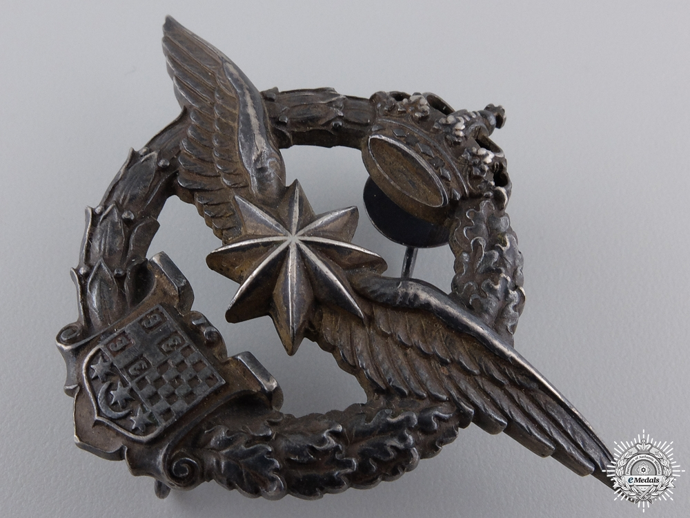 A Yugoslavian WWII Army Air Service  Observers and Navigation Badge