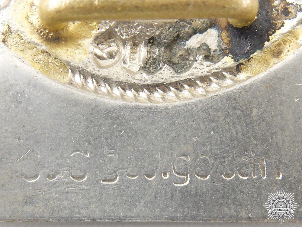 A Mint SS EM Belt Buckle by O & C ges. gesch.