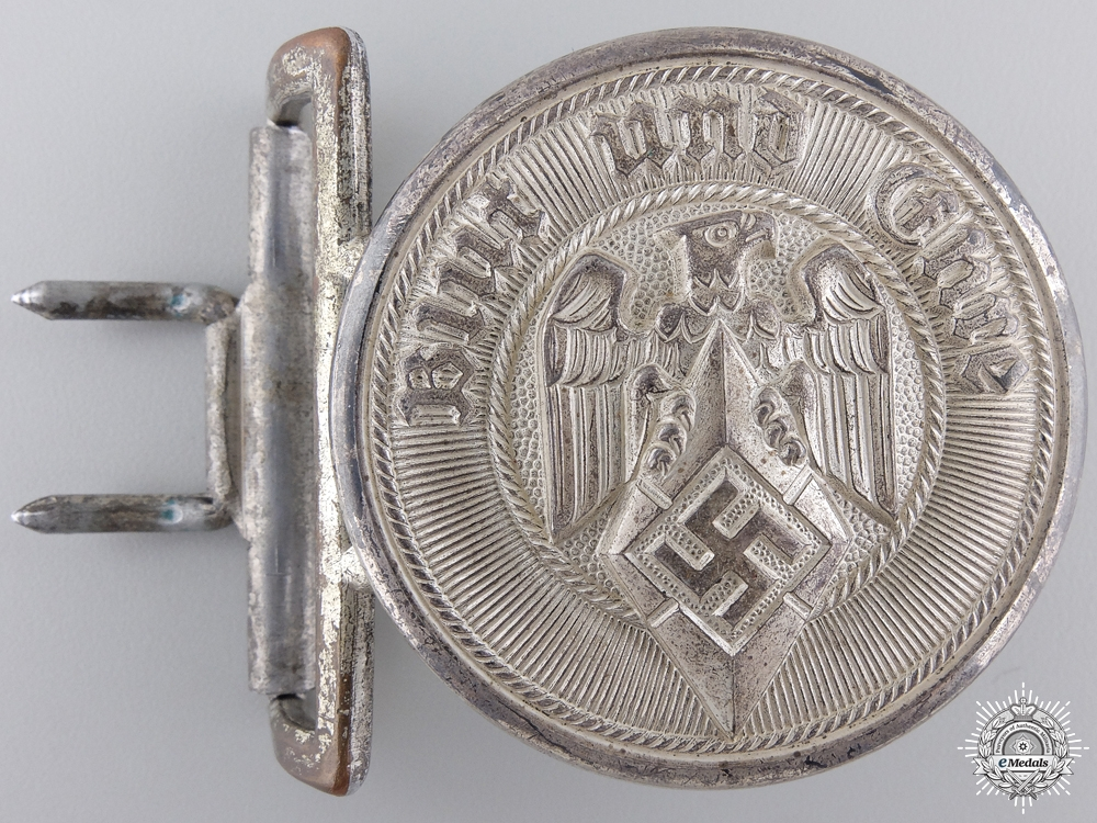 A Mint HJ Leaders Belt & Buckle by Christian Theodor Dicke