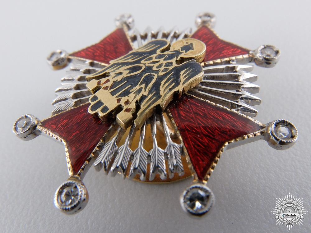 A Miniature Spanish Order of Cisneros in Gold & Diamonds