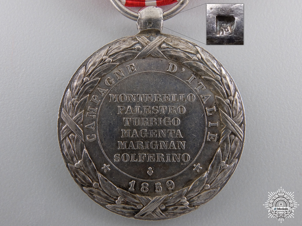 An 1859 French Italy Campaign Medal