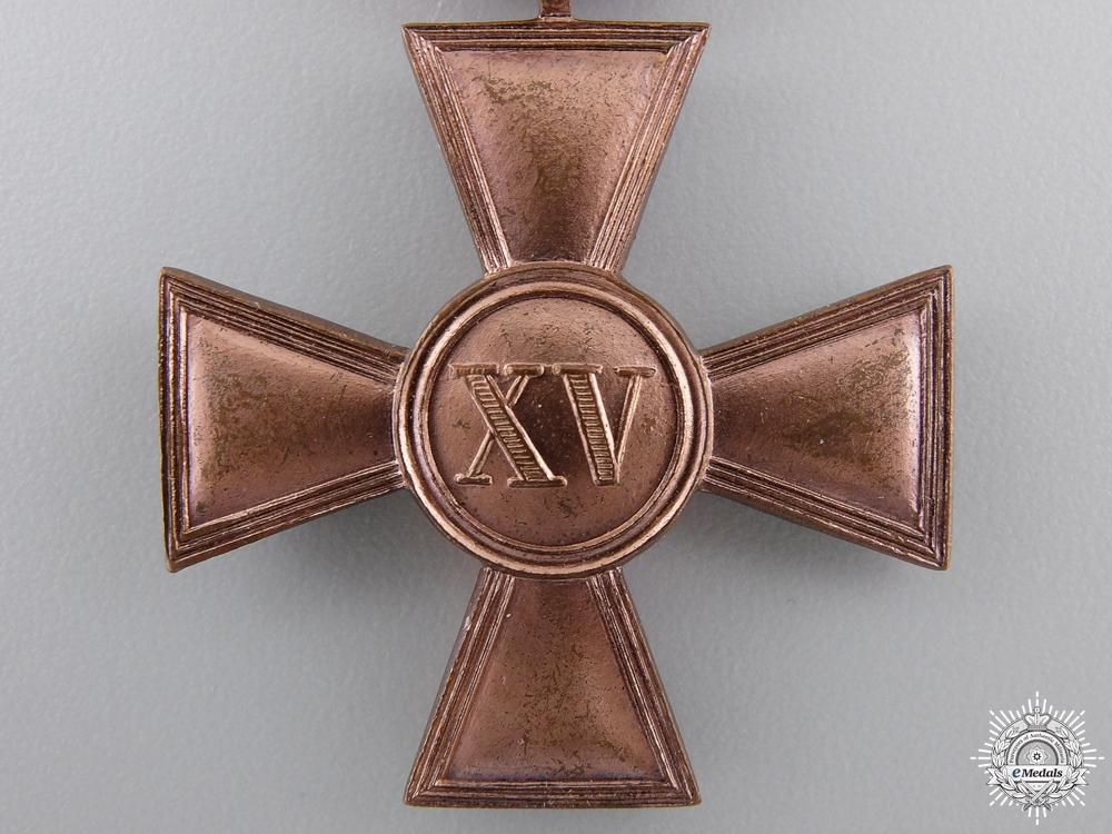 A First War Hessen Military Long Service Cross; 1st Class