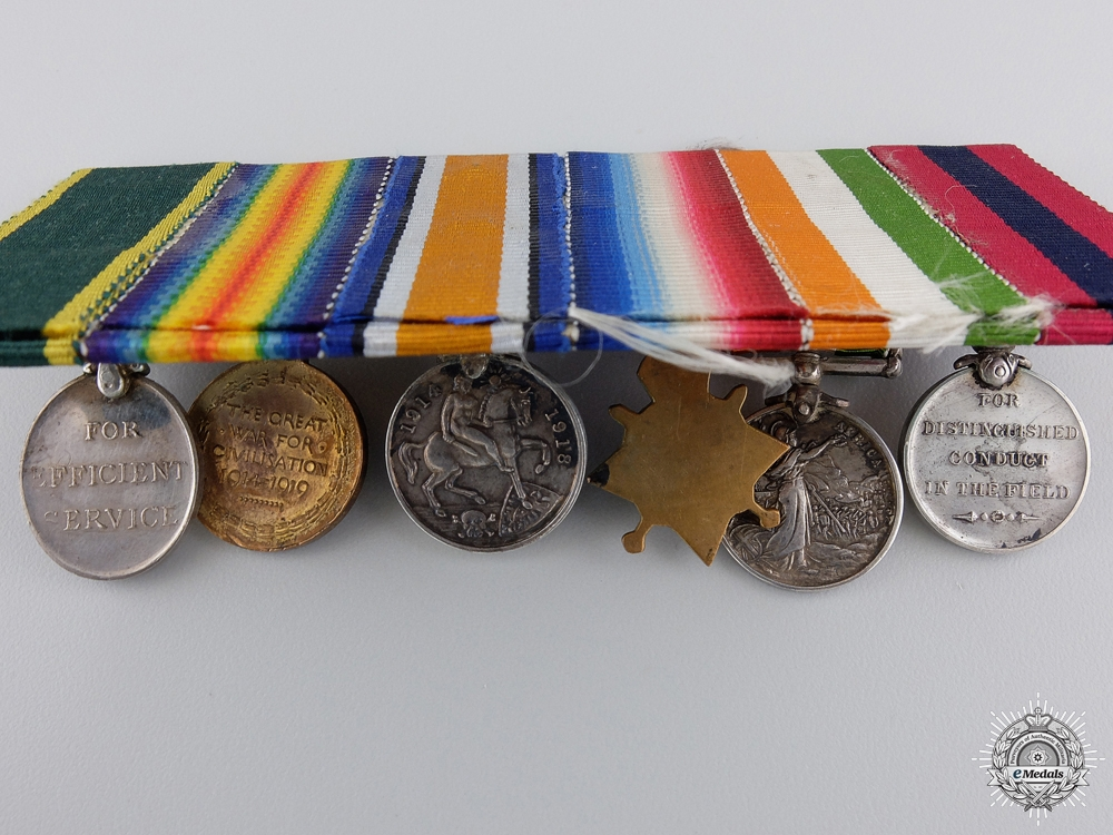 A South African & First War Distinguished Conduct Medal Miniature Group