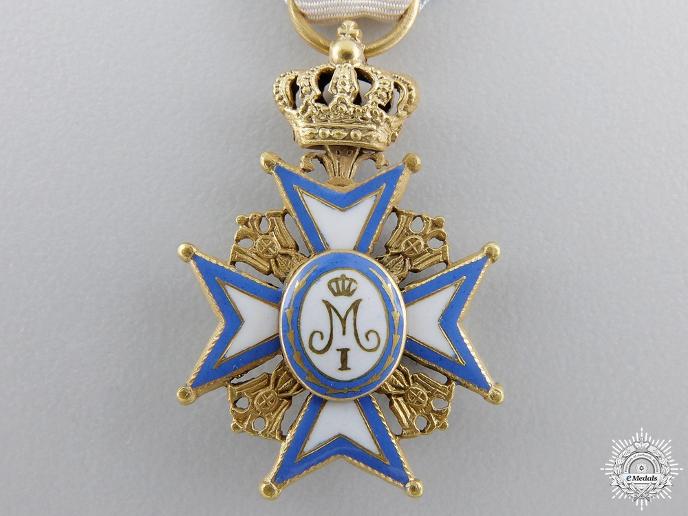 A Miniature Serbian Order of St. Sava in Gold; Type I