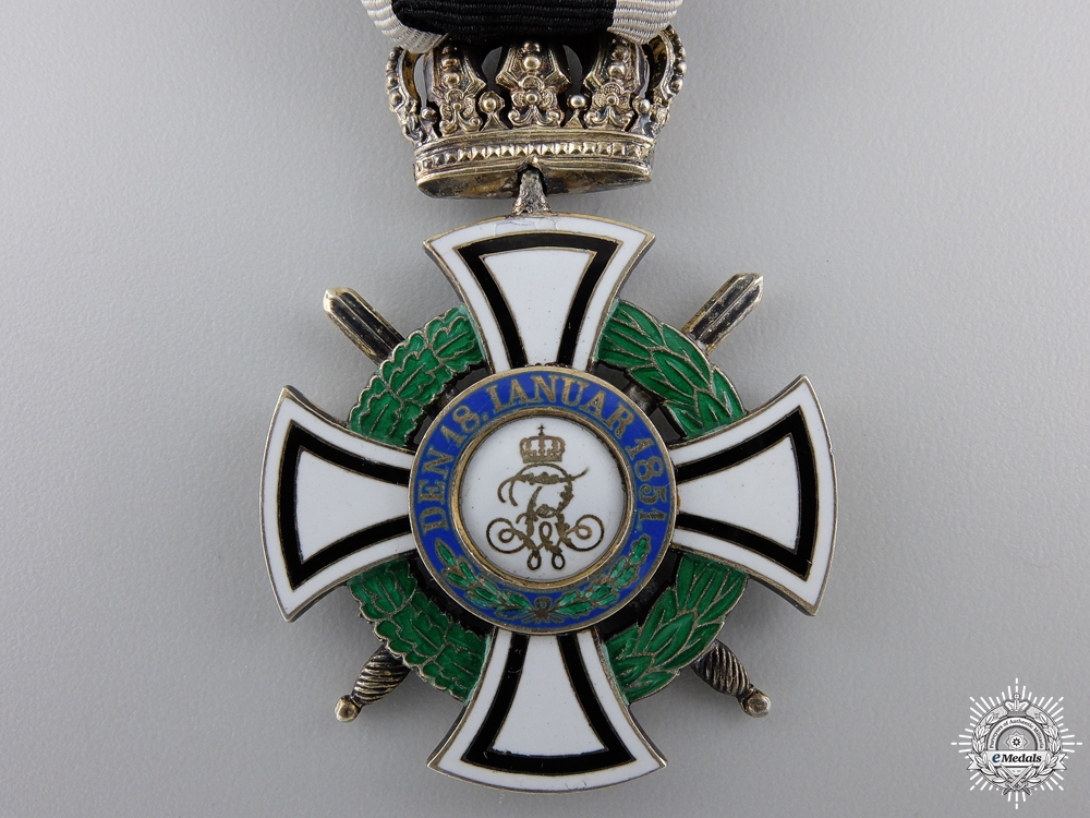 A Prussian House Order of Hohenzollern; Knight's Cross byFriedlander