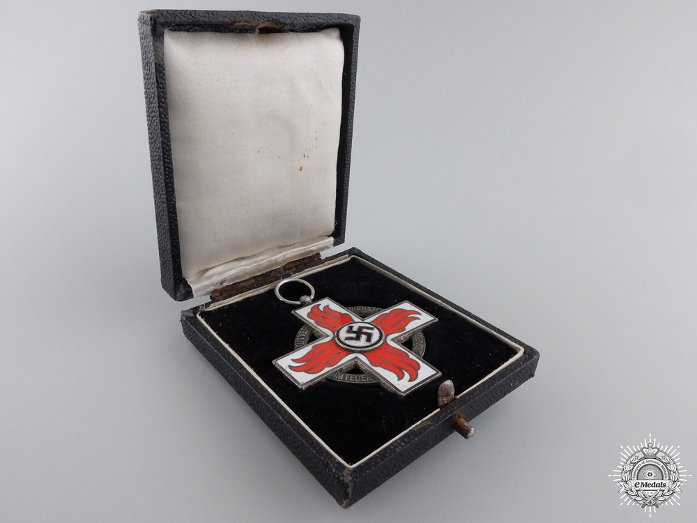 A Cased Fire Brigade Cross; 2nd Class