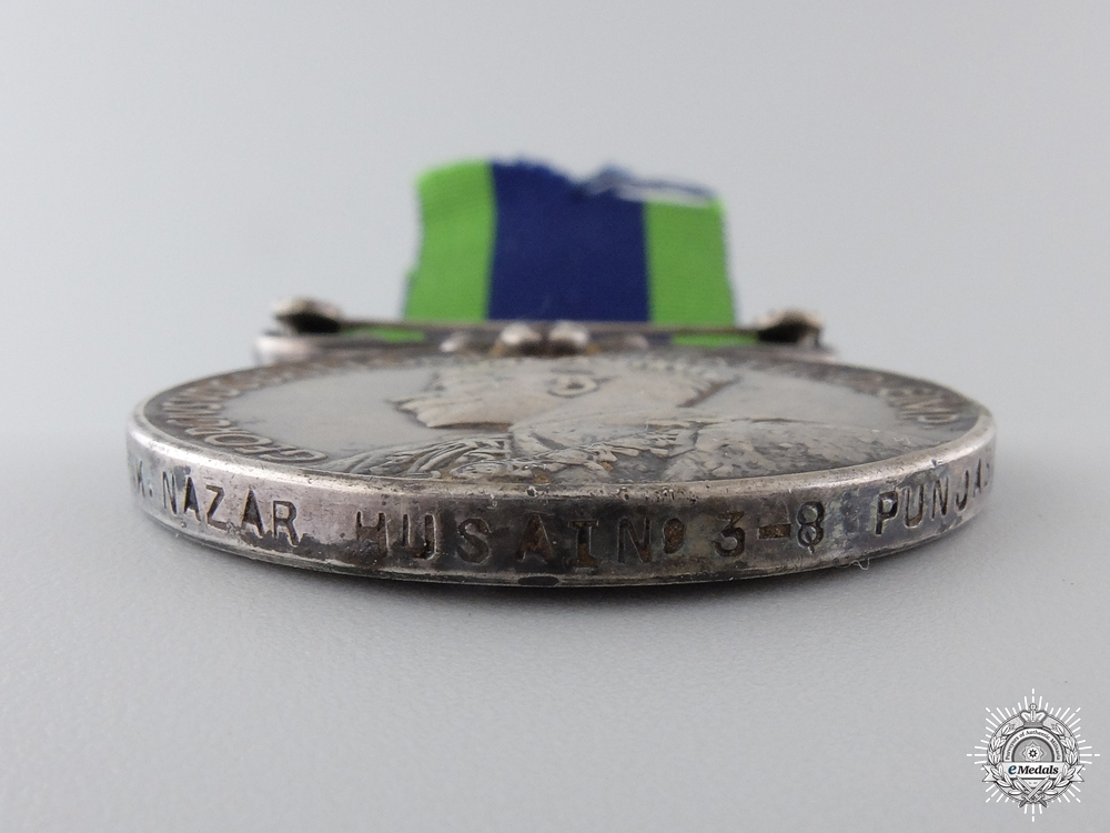 An India General Service Medal to the 8th Punjab Regiment