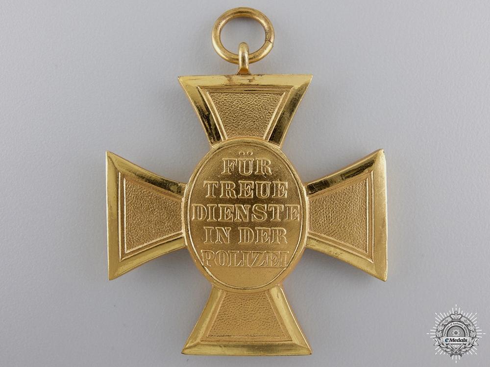 A German Police Long Service Cross; First Class