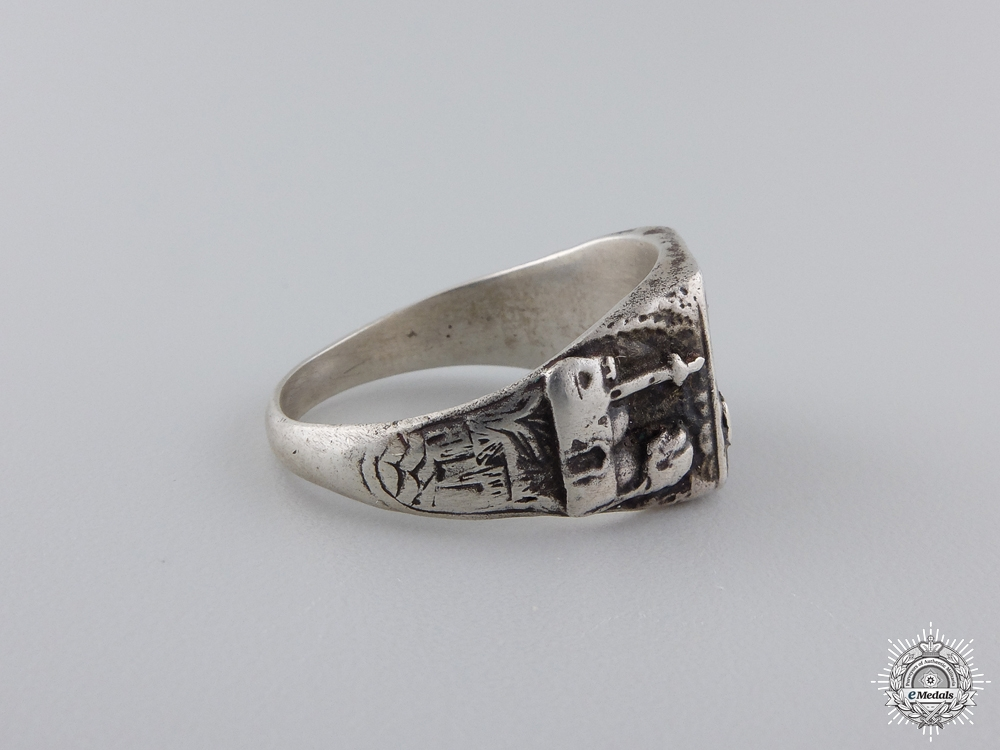 A German Silver Afrikakorps Ring