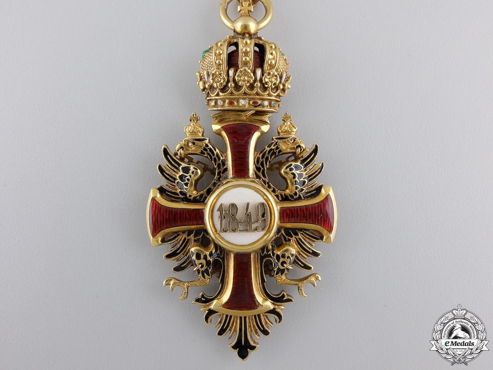 An Austrian Order of F. Joseph in Gold; Commander's Neck Cross