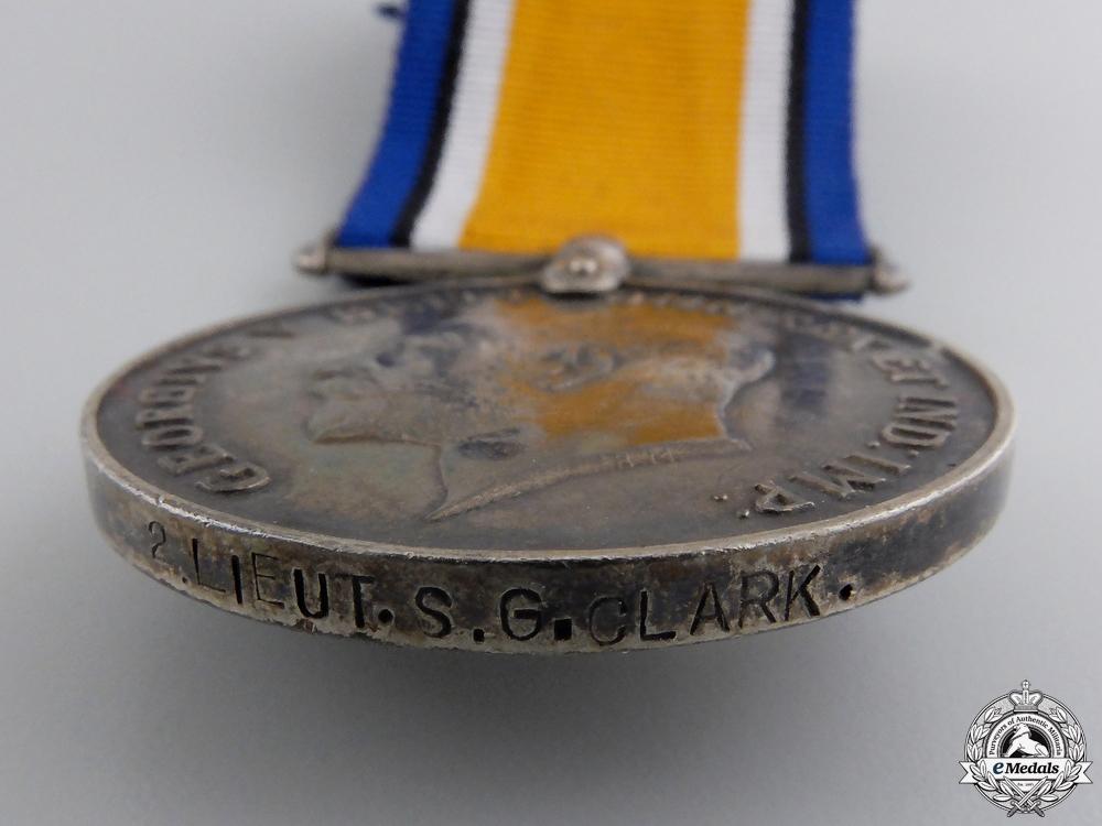 A First War British War Medal to 2nd LT. Clark