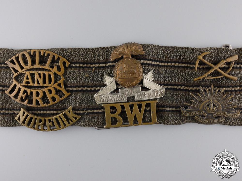 "A First War Commonwealth ""Hate"" Belt"