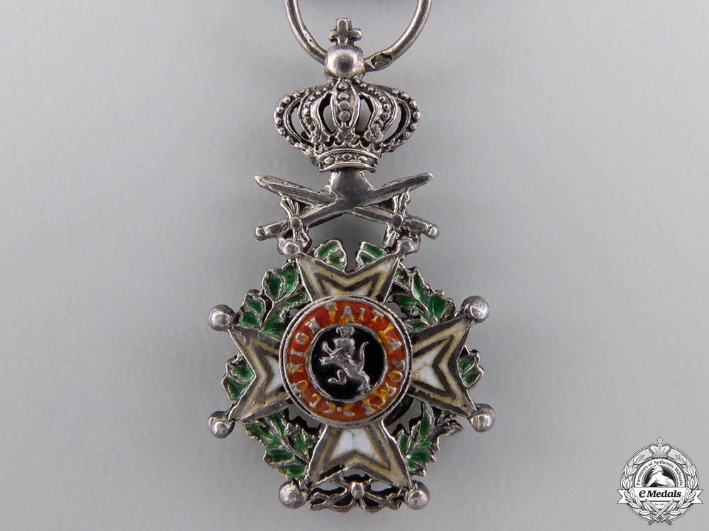A Miniature Belgian Order of Leopold' Knight with Swords