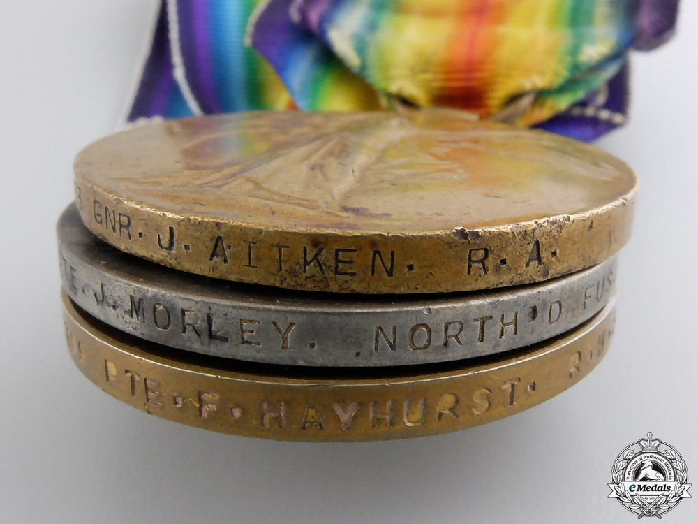 Three British First War Victory Medals   Consignment #28
