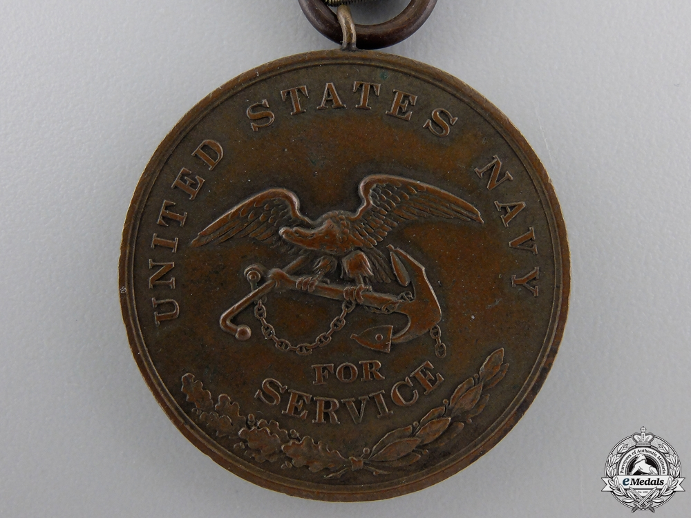 An American Civil War Naval Campaign Medal to U.S.S. Lenapee